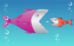 Fish. Concept of natural selection, underwater metaphor. Vector Royalty Free Stock Photo