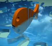 Fish. 3d fish royalty free illustration