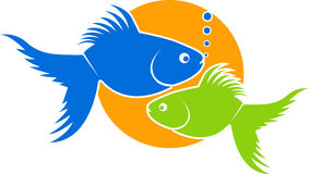 Fish. Illustration art of a fish with isolated background Stock Photos