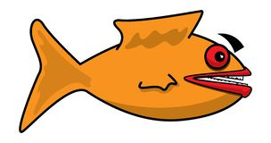 Fish. Simple illustration for an orange fish Stock Photography