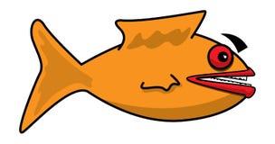 Fish. Simple illustration for an orange fish Stock Illustration