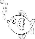 Fish. Paint by illustrator, background Royalty Free Stock Images