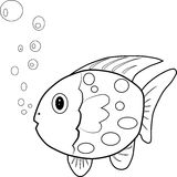 Fish. Paint by illustrator, background Stock Image