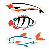Fish. As a ing symbol, such a logo Royalty Free Stock Photography