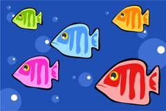 Fish. Bold fish design Royalty Free Stock Photos