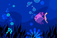 Fish. Pink fish in the deep sea Stock Photo
