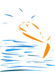 Fish. Illustration with fish jumping from the water.Jump, sea Stock Photos