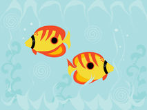 Fish. Bright Fish on turquoise background Royalty Free Stock Photo