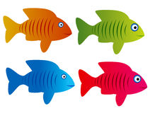 Fish. This illustration group of fish Stock Photos