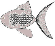 Fish. Drawing depicting a fish silvery gray Stock Images