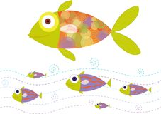 Fish. An illustration of fish swiming Royalty Free Stock Photography