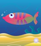 Fish. Vector image of a fish Royalty Free Stock Images