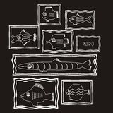 Fish. Vector illustration fish background pattern Royalty Free Stock Photo