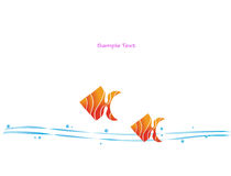 Fish abstract border. Illustration of fish & water  useful for covers, menu-cards, notebooks etc Royalty Free Stock Image