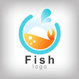 Fish in abstract. Design for logo and business and graphic design Stock Images