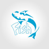 Fish abstract vector design logo template. Stock Images