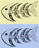Fish abstract vector illustration. Fish with bones abstract vector illustration Royalty Free Stock Image