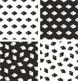 Fish Aligned & Random Seamless Pattern Set. This image is a illustration and can be scaled to any size without loss of resolution Royalty Free Stock Photography
