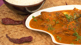 Fish ambot tik is a sour and spicy curry from goa, India. Stock Photography