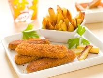 Fish And Potato Stock Photo