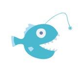 Fish angler. Vector illustration,  on white background. Fish angler, sea creature. Vector illustration,  on white background Stock Photography