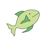 Fish animal design. Green fish animal icon over white background. vector illustration Stock Photography