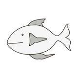 Fish animal design. Silhouette of fish animal icon over white background. vector illustration Stock Photo