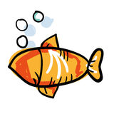 Fish animal drawing icon. Illustration design Royalty Free Stock Photos