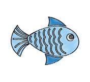 Fish animal isolated icon. Illustration design Stock Image