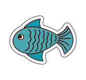Fish animal isolated icon. Illustration design Stock Photo