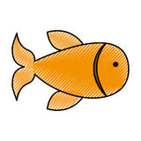 Fish animal isolated icon. Vector illustration design Stock Photo