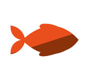 Fish animal silhouette icon. Vector illustration design Stock Image