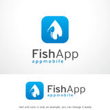 Fish App Logo Template Design Vector, Emblem, Design Concept, Creative Symbol, Icon. This design suitable for logo or icon Royalty Free Stock Photography