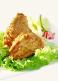 Fish appetizer. Appetizer of fried fish in white background Stock Photo