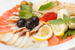 Fish appetizer Royalty Free Stock Images