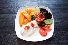 Fish Appetizer On Plate Stock Photos