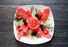 Fish Appetizer On Plate Stock Image