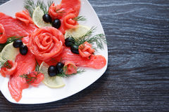 Fish Appetizer On Plate Stock Photography