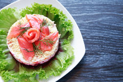Fish Appetizer On Plate Royalty Free Stock Images