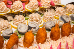 Fish appetizer Royalty Free Stock Photo