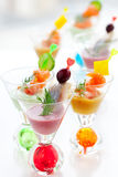 Fish appetizers Royalty Free Stock Images