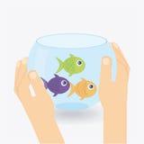 Fish aquarium. Design, vector illustration eps10 graphic Stock Image