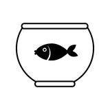 Fish in aquarium icon. Illustration design Stock Photos