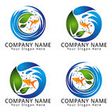 Fish Aquarium Logo Royalty Free Stock Photos