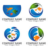 Fish Aquarium Logo Stock Photo