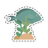 Fish aquarium ornament habitat coral. Illustration eps 10 Stock Photo