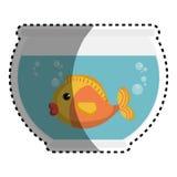Fish in aquarium pet. Vector illustration design Stock Images