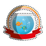 Fish in aquarium pet. Vector illustration design Stock Photo