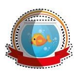 Fish in aquarium pet. Vector illustration design Royalty Free Stock Photos