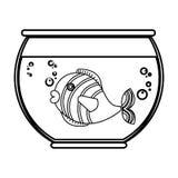 Fish in aquarium pet. Vector illustration design Stock Photos